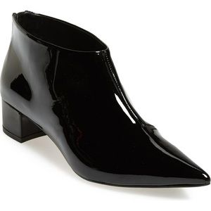 Topshop Ashley Patent Leather Point Toe Ankle Boot